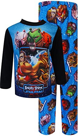Star Wars Angry Birds Boys Blue Pajamas (4)
