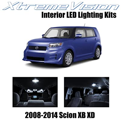 XtremeVision Interior LED for Scion XB XD 2008-2014 (12 Pieces) Pure White Interior LED Kit + Installation Tool: Automotive [5Bkhe1510593]