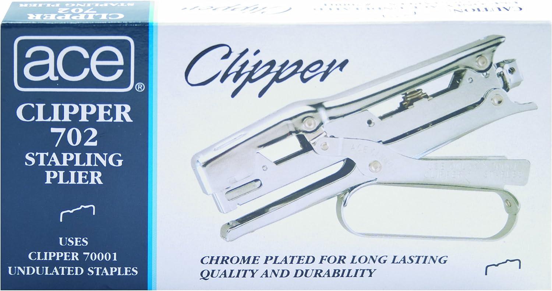 ACE07020 Chrome Finish Ace Clipper Plier Stapler