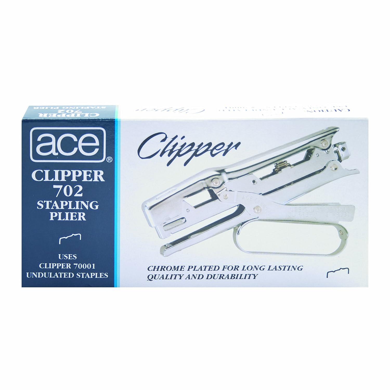Ace Clipper Staples Spillatrice Stapler Chrome Finish