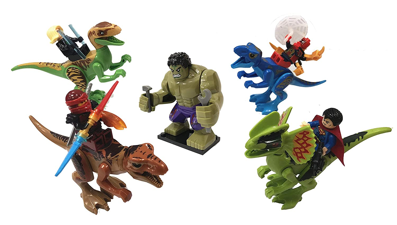 Jurassic world Minifigures Ninjago Dinosaurs Building Blocks toys Action Figures 19pcs Hulk New /& Luxury Marvel Superheroes lego Captain marvel Educational Gift for Boys /& Girls Superman