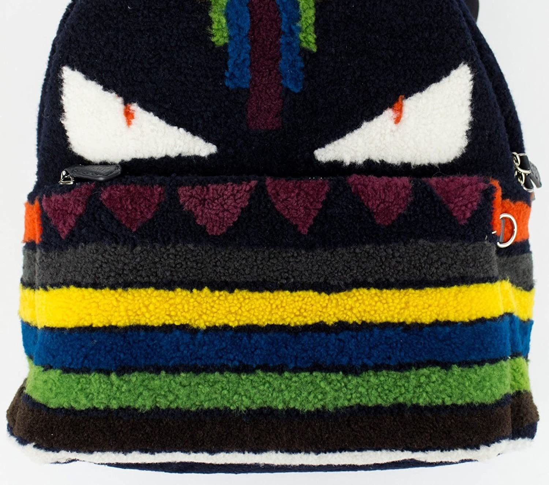 114c5f73a14c Amazon.com  Fendi Men s Multicolor Monster Shearling Fur Backpack  Baby