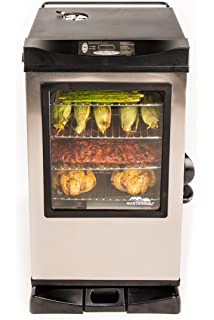 Exceptional Masterbuilt 20077515 Front Controller Electric Smoker With Window And RF  Controller, 30 Inch