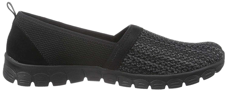 Skechers Women's Ez Flex Big Money Fashion Sneaker B01EOQAQJU 6 B(M) US|Black Knit