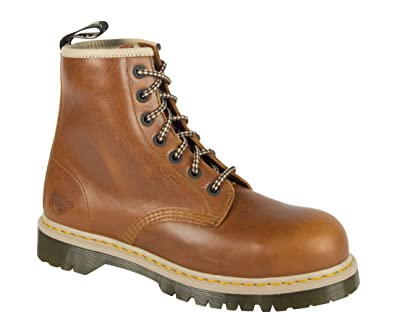 7721bede55f Dr. Martens DM Docs Icon 7B10 Tan Steel Toe Cap 7 Eyelet Heavy Duty Safety  Boots