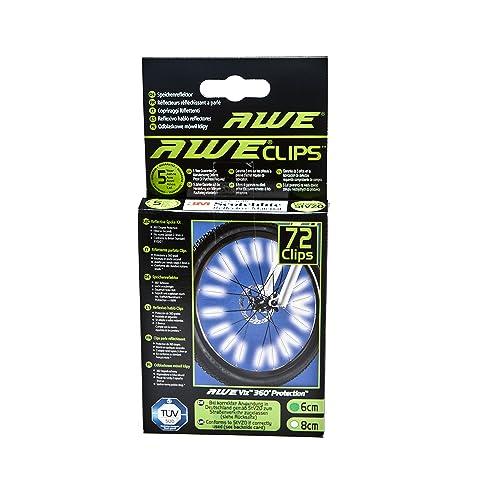 AWE® AWEBrightTM 72pcs x 6cm 360º Enduit avec 3M Scotchlite® est conforme à BS 6102/2, garantie gratuite de 5 ans ! / testé à TUV et StVZO allemand Road Traffic approbations, Rolling Road Imp