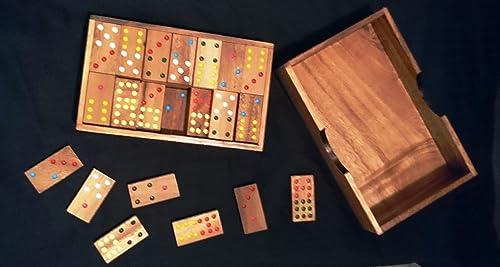Domino 56 piezas y 4 juegos más. Juego de mesa. Juego de madera ...