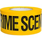 Crime Scene Do Not Cross Barricade Tape 3 X 1000 • Bright Yellow with a bold Black Print for High Visibility • 3 in. wide for