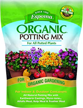 Espoma Potting Mix, Natural & Organic, for Indoor & Outdoor Potted Plants