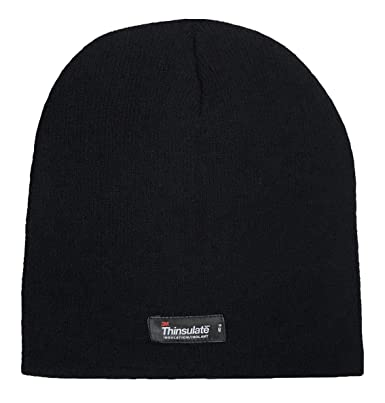 125d968b Thinsulate - Boys Kids Warm Thin Thermal Fleece Insulated Knit Winter Hat in  3 Colours: Amazon.co.uk: Clothing