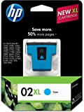 HP 02XL Cyan High Yield Original Ink Cartridge (C8730WN) DISCONTINUED BY MANUFACTURER