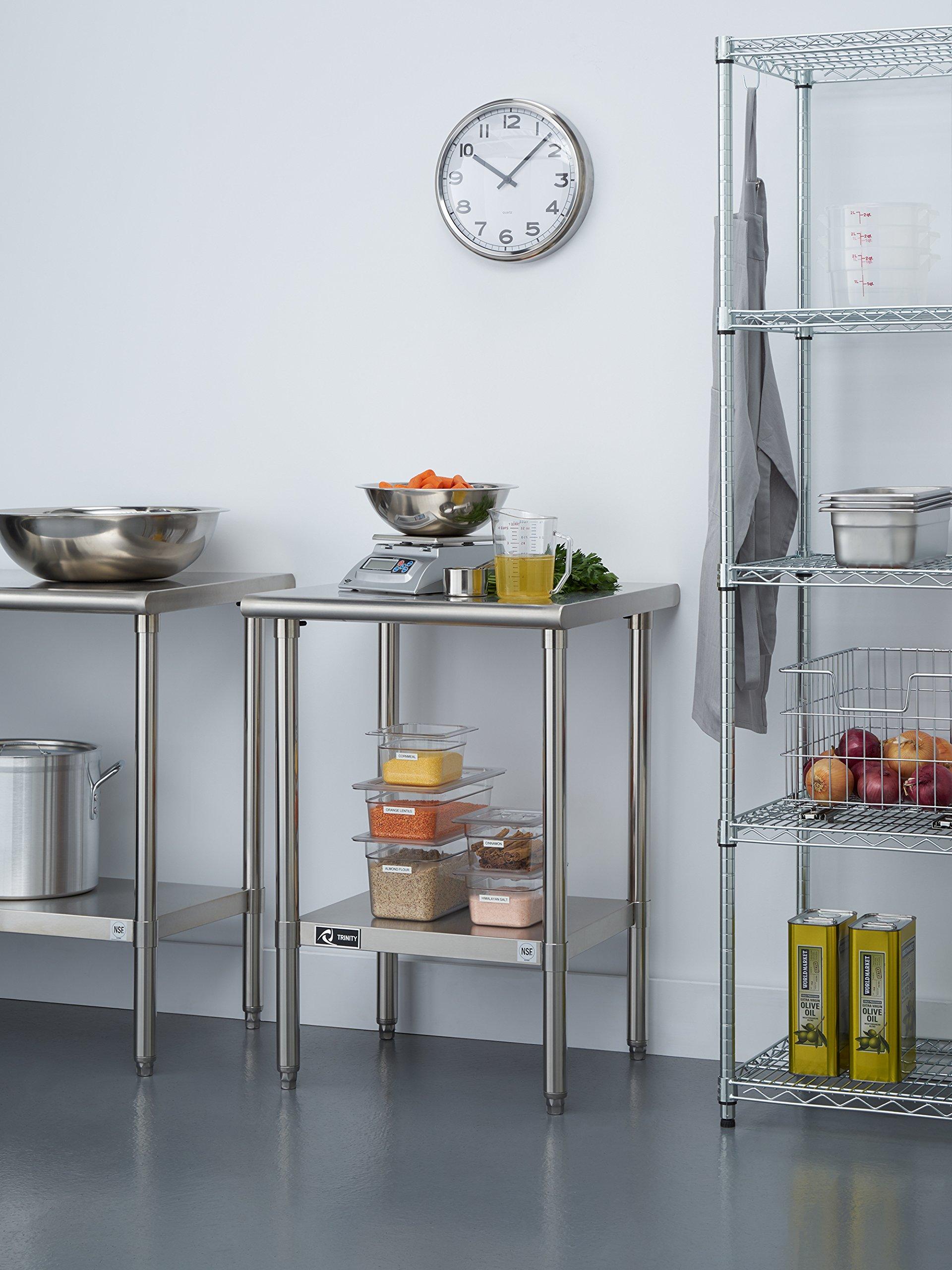 TRINITY EcoStorage NSF Stainless Steel Table, 24-Inch by Trinity (Image #2)