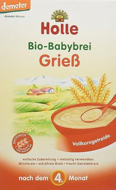 Holle Papilla de Sémola de Trigo (+4 meses) - Paquete de 6 x