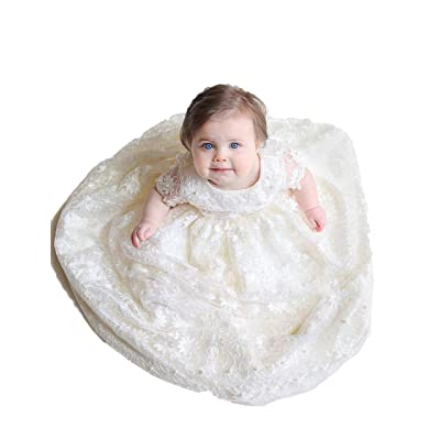 Aorme Baby Girls Christening Dresses Baptism Celebration Charming Lace Beads