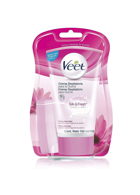 Veet Crema depilatoria de Ducha - con dosificador, Piel sensible, 400ml Reckitt Benckiser 3018994