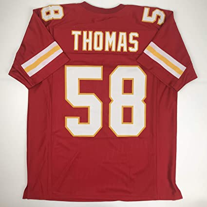 077e7cfabfc Unsigned Derrick Thomas Kansas City Red Custom Stitched Football Jersey  Size Men's XL New No Brands