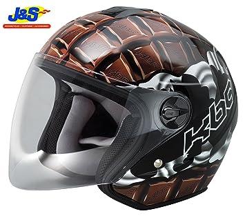KBC OFS Chocolate motocicleta moto scooter casco, Tour tapa raza J & S