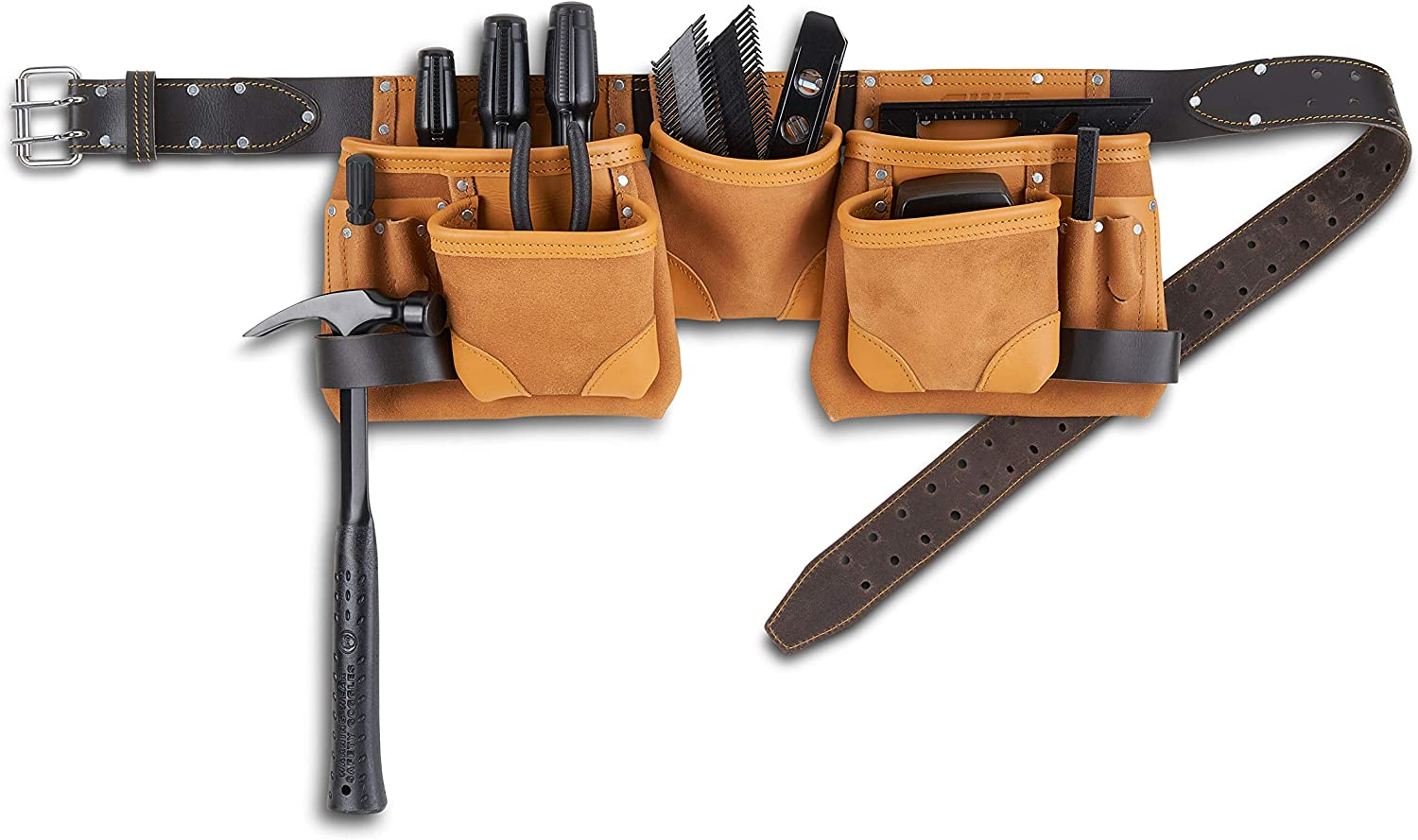 AWP Construction Leather Tool Apron | Classic leather tool apron - LT-428-2