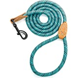 Mile High Life Leather Tailor Handle Mountain Climbing Dog Rope Leash Heavy Duty Metal Sturdy Clasp (Turquoise Green, 5…