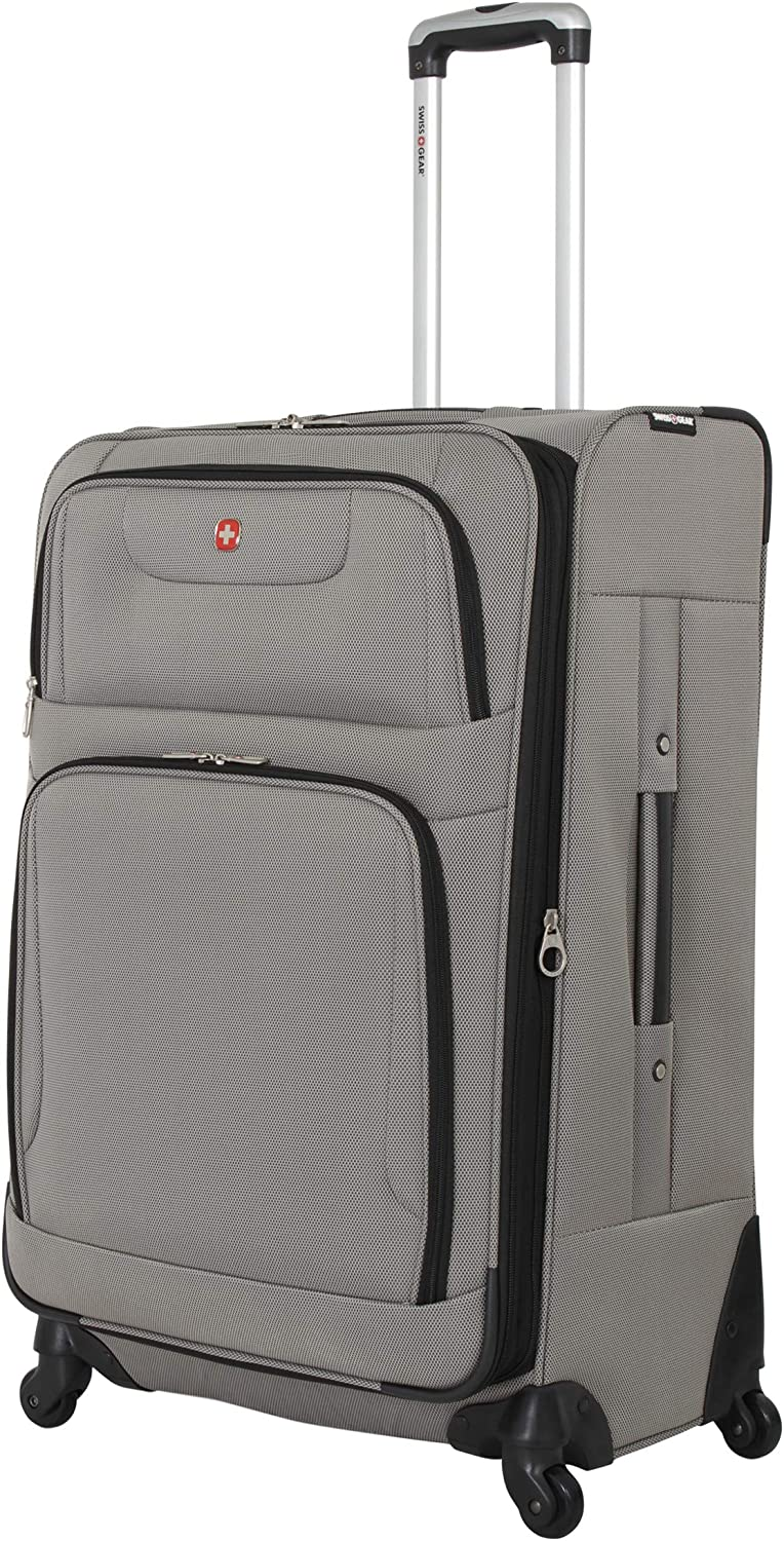 SWISSGEAR 7297 Expandable Spinner Luggage, 27-Inches – Pewter