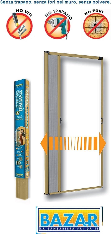 Mosquitera Bazar porta-finestra apertura lateral 160 x 250 color bronce bz2616: Amazon.es: Bricolaje y herramientas