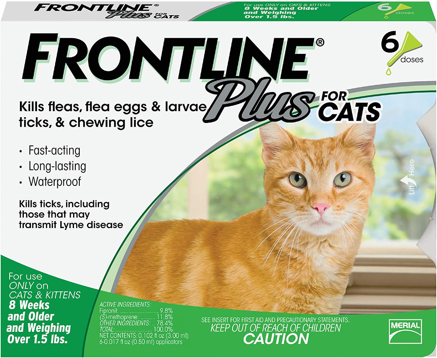 1. Merial Frontline Plus Flea and Tick Control