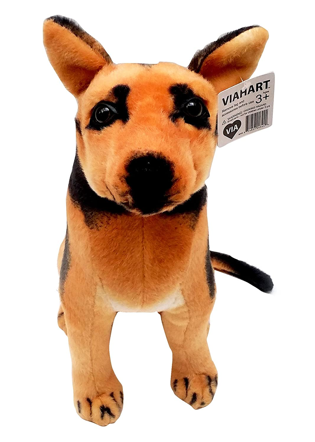 amazoncom gunther the german shepherd   inch large german  - amazoncom gunther the german shepherd   inch large german shepherdstuffed animal plush dog  by tiger tale toys toys  games