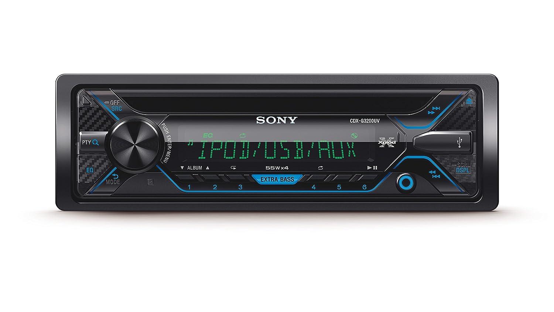 Sony CDXGUV EUR Receptor de CD USB Extra Bass salidas de W