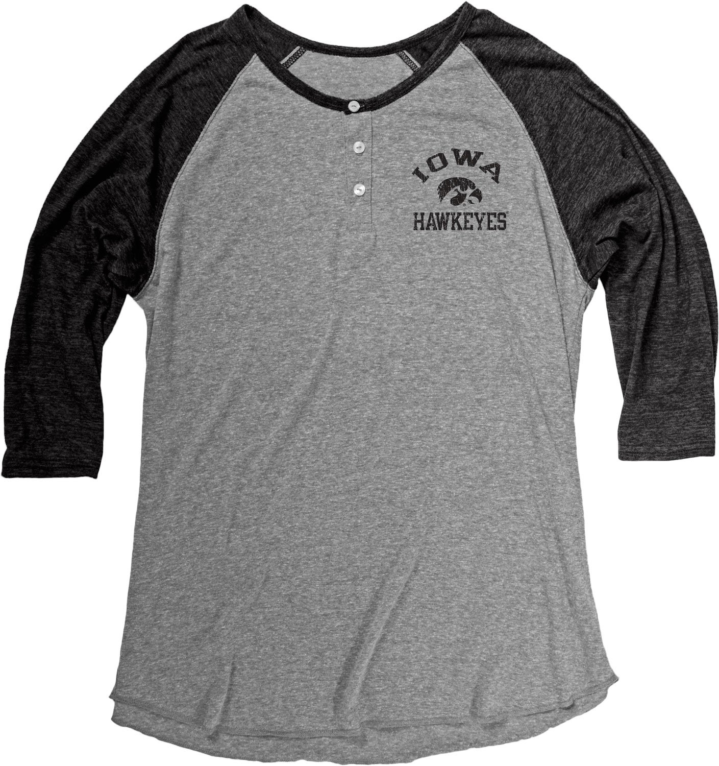 1beee71e94e Amazon.com   NCAA Men s Tri Blend Long Sleeve Henley   Sports   Outdoors