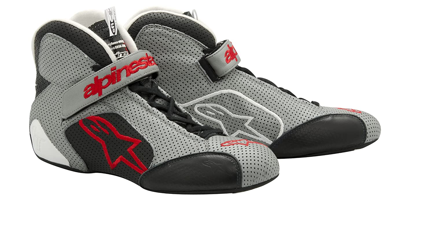 Alpinestars 2710112-913-9.5 Gray//Black//Red Size-9.5 Tech 1-T Shoes