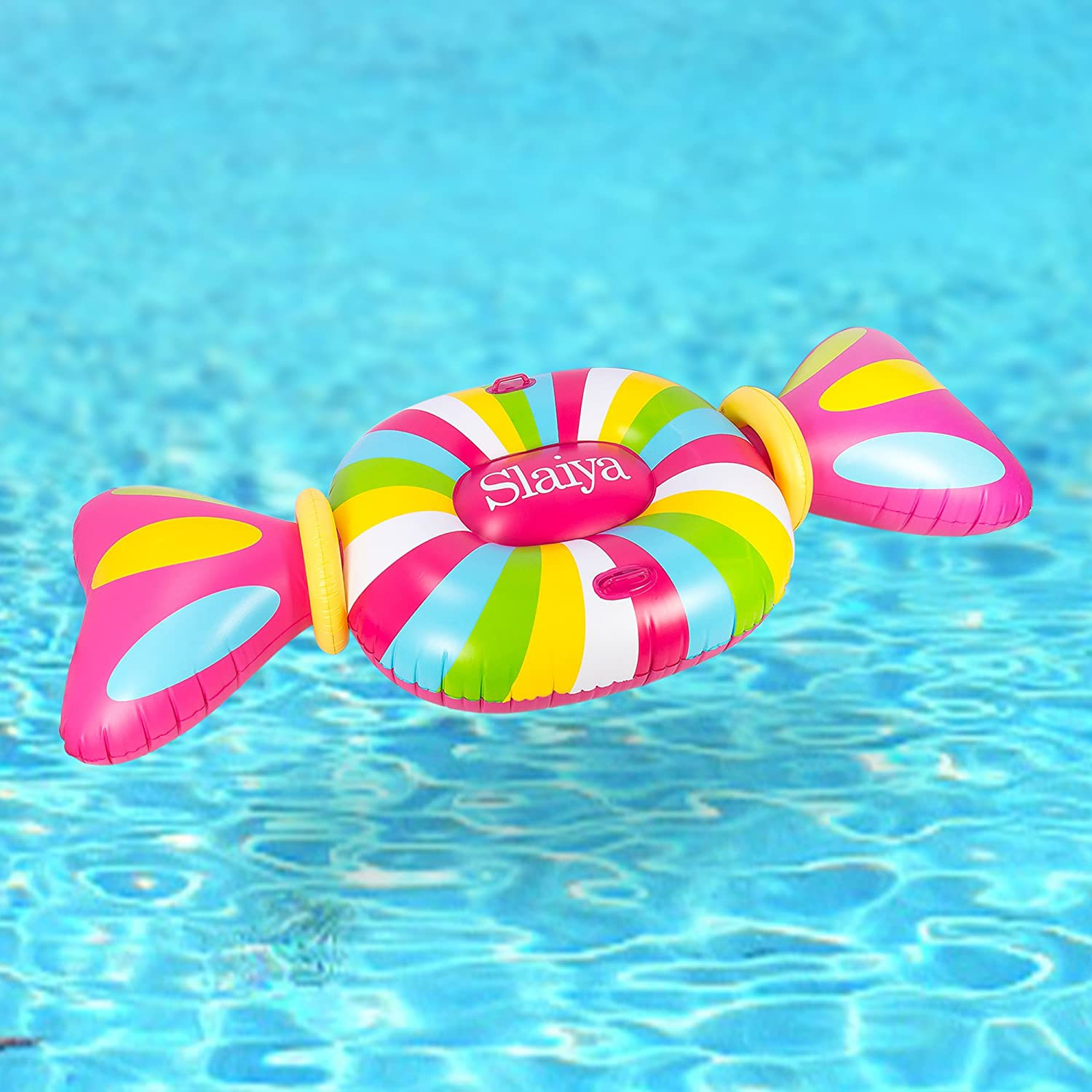 best Giant Candy Inflatable Pool Float with Swimming Rings for
