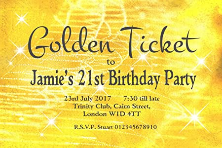 30 magnetic birthday party invitations personalised for you 30 magnetic birthday party invitations personalised for you golden ticket invites for 18th 21st filmwisefo
