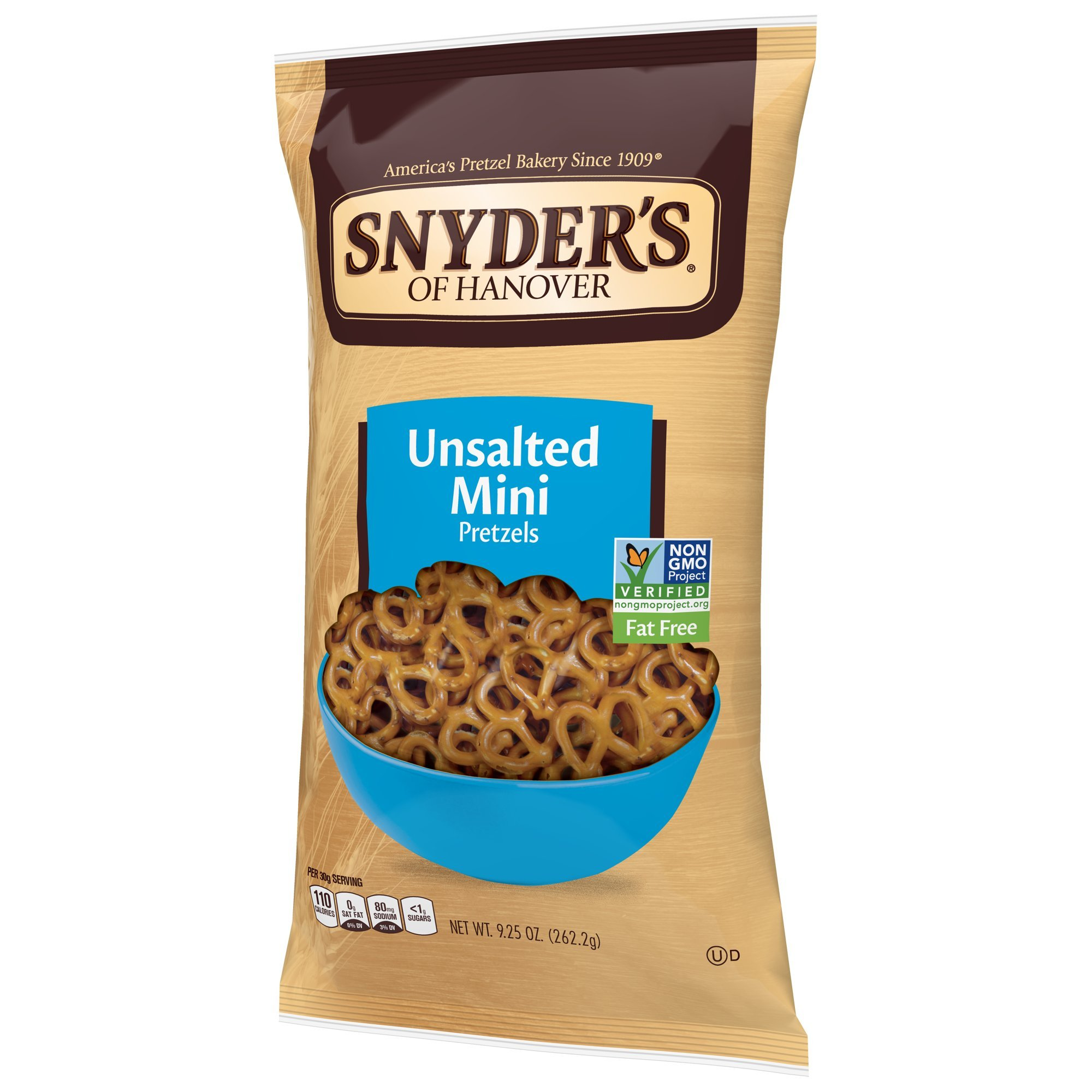 Snyder's of Hanover Mini Pretzels, Unsalted, 9.25 Ounce Bags (Pack of 12) by Snyder's of Hanover (Image #4)