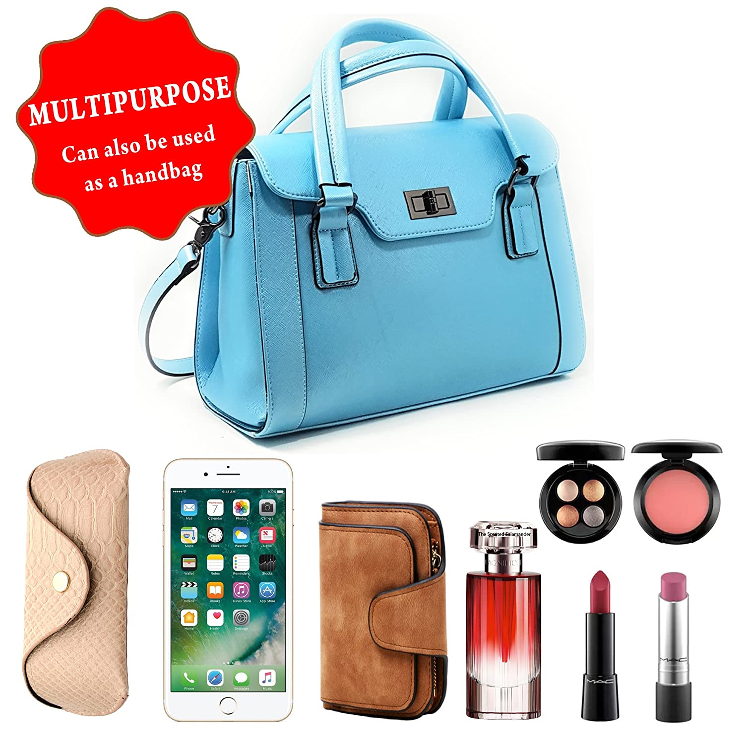 a1be420d343e SPECIAL OFFER  Purple Relic DSLR Camera Bag for Women  8-Pocket Ladies  Handbag with Removable Camera Case (Blue)  Amazon.co.uk  Shoes   Bags