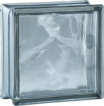 5 St/ück FUCHS Glassteine Gekreuzt Klar 19x19x8 cm