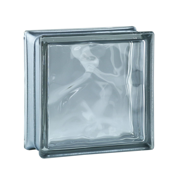 6 St/ück BM Glassteine Wolke Reflex Anthrazit 19x19x8 cm