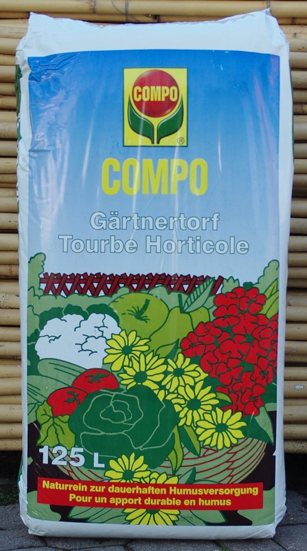Turba rubia de musgo PH 3, 0 - 4, 0 para agricultura orgánica en paquete de 125 litros: Amazon.es: Jardín