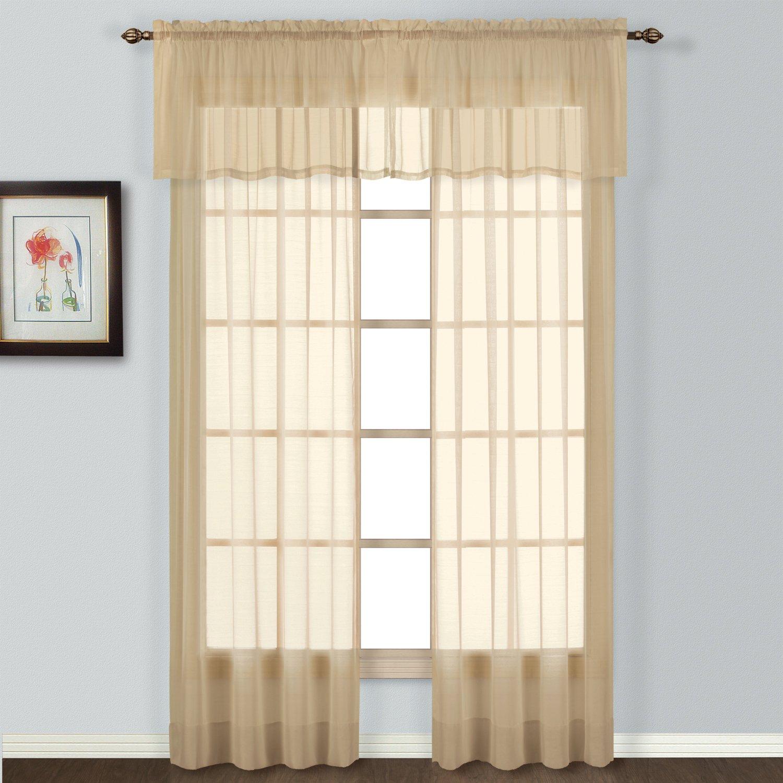 54 by 84-Inch United Curtain Batiste Semi-Sheer Window Curtain Panel Natural BAT84NT