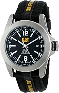 CAT WATCHES Mens YA14164131 Big Twist Stainless Steel Watch with Black Nylon Band