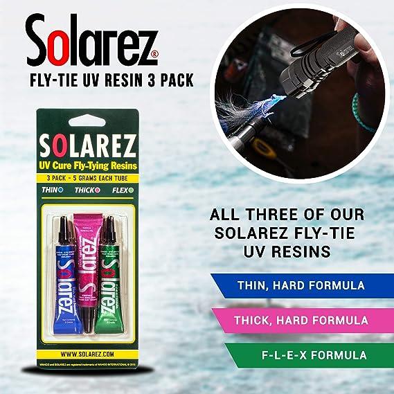 Solarez UV Fly Cravate Couleur Bouteille 5 g avec brosse CapFL Vert