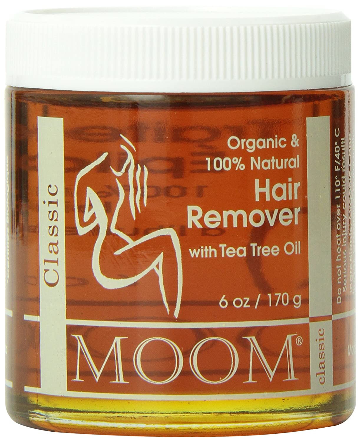 Moom Organic Hair Remover Refill, 6-Ounce Jars (Pack of 2)