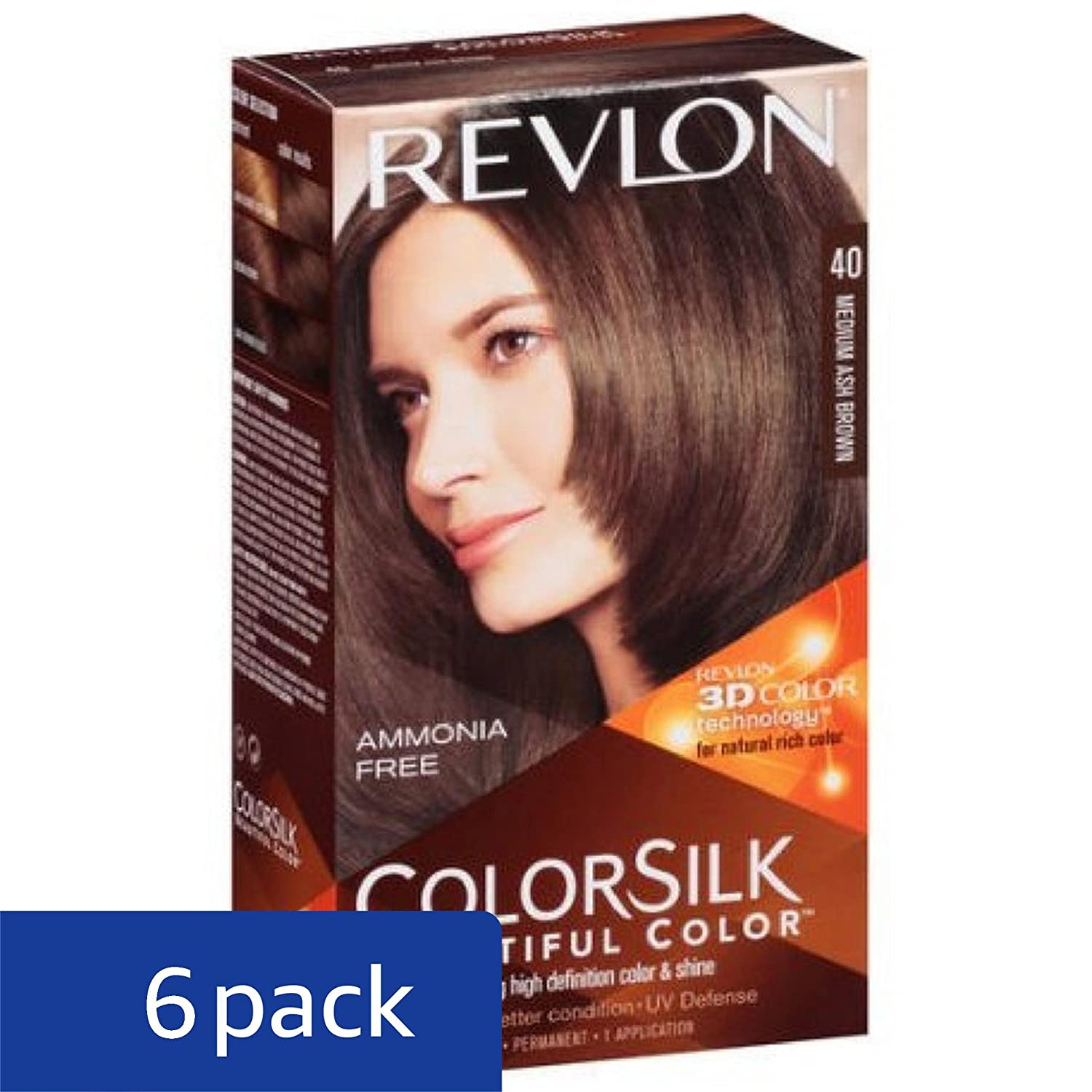 Amazon Revlon Colorsilk Hair Color 40 Medium Ash Brown 1 Each