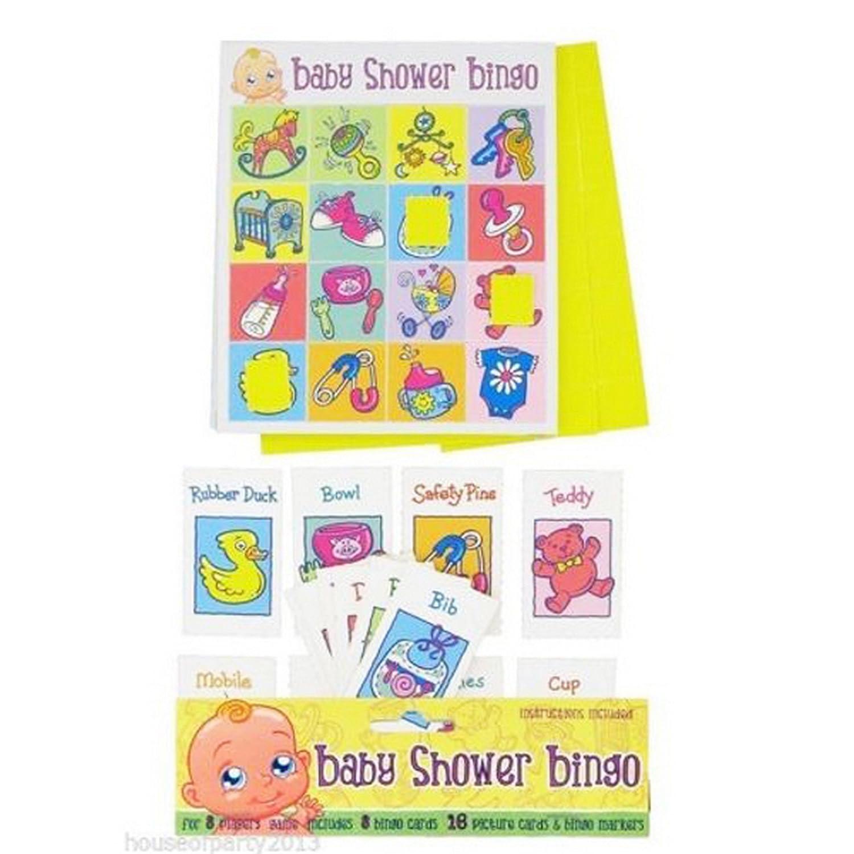 15 Baby Bingo Set Shower Party Game Unisex Neutral Girl Boy Fun Players Gift