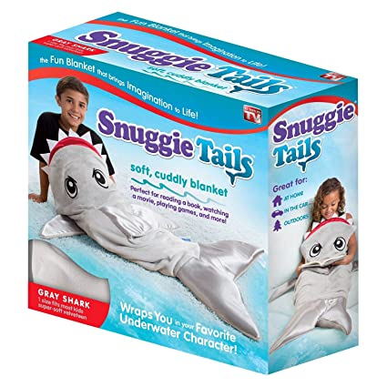 APG Snuggie Tails Shark Blanket for Kids bbc65450e