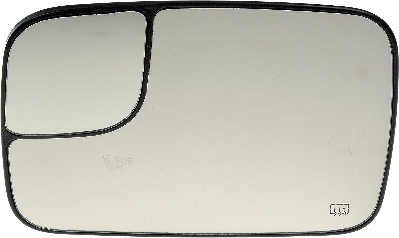 Plastic Backed Door Mirror Glass Heated Dorman 56902 Chrysler//Dodge Passenger Side