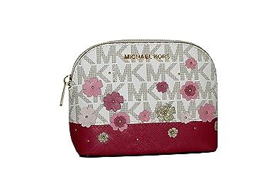 51f01c2c4d87 MICHAEL Michael Kors Women s EMMY Travel Pouch Make up Case Bag (Vanilla)