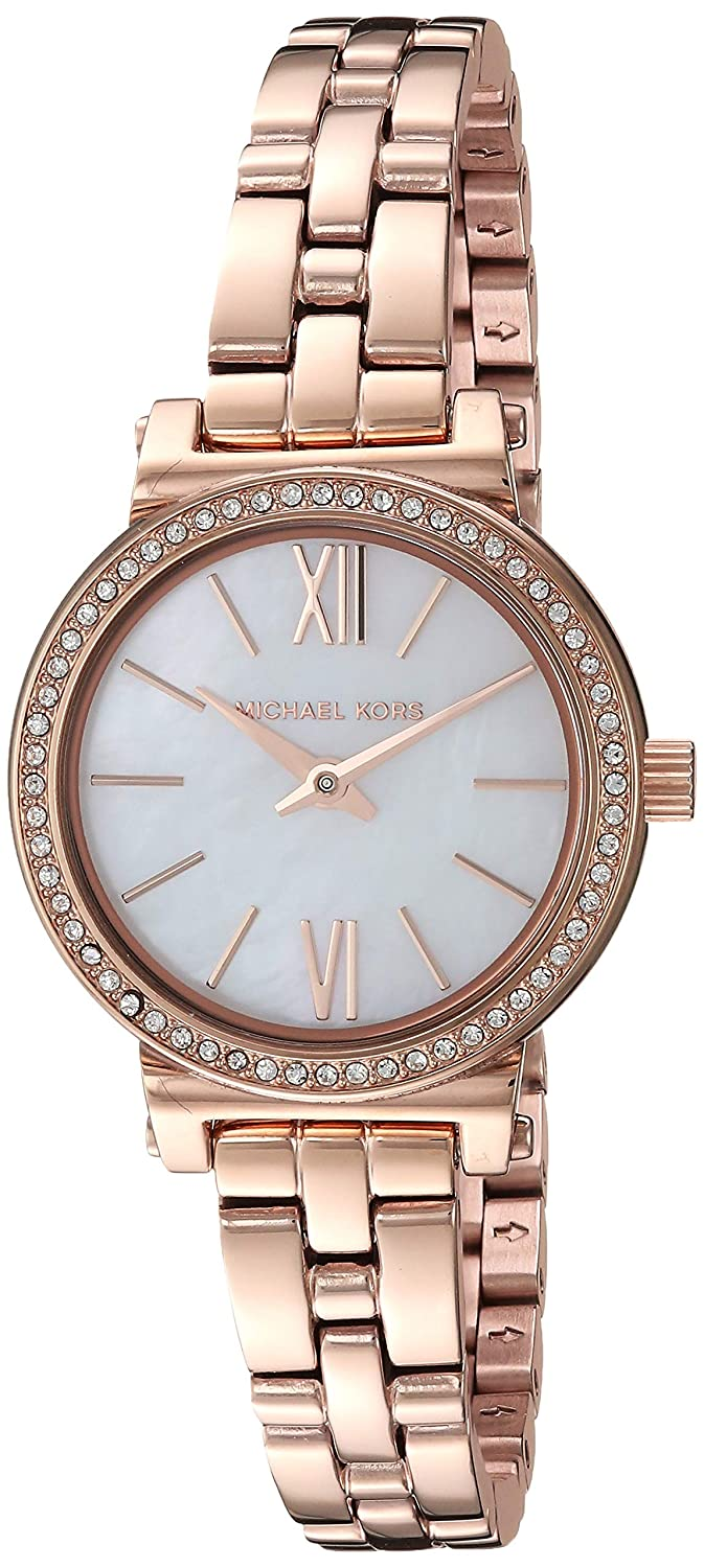 db6579ed3478 Amazon.com  Michael Kors Women s Sofie Analog-Quartz Watch with  Stainless-Steel Strap