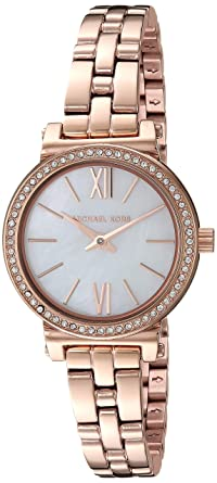 dd06b10ff Image Unavailable. Image not available for. Color: Michael Kors Women's  Sofie Analog-Quartz Watch ...