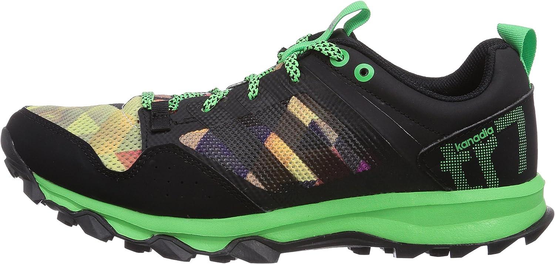 Adidas Kanadia 7 Trail, Zapatillas de Deporte para Hombre, Core Black Flash Green S15 Core Black, 41 1/3 EU: Amazon.es: Zapatos y complementos