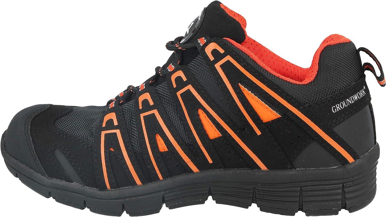 Groundwork Zapatillas de atletismo ultraligeras para hombre con puntera de acero para mayor seguridad
